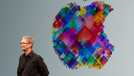 Tim Cook giving the keynote at the 2012 World Wide Developers Conference.