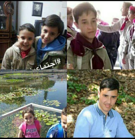 (Clockwise from top left) Issa, 8; Muhammad 10; Taysir 15: Ilina 6; Ahmad 17. All five children were killed in a West Bank car accident on June 27, 2017. (Courtesy)