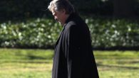 Stephen Bannon walking out of the White House, Feb. 24, 2017.