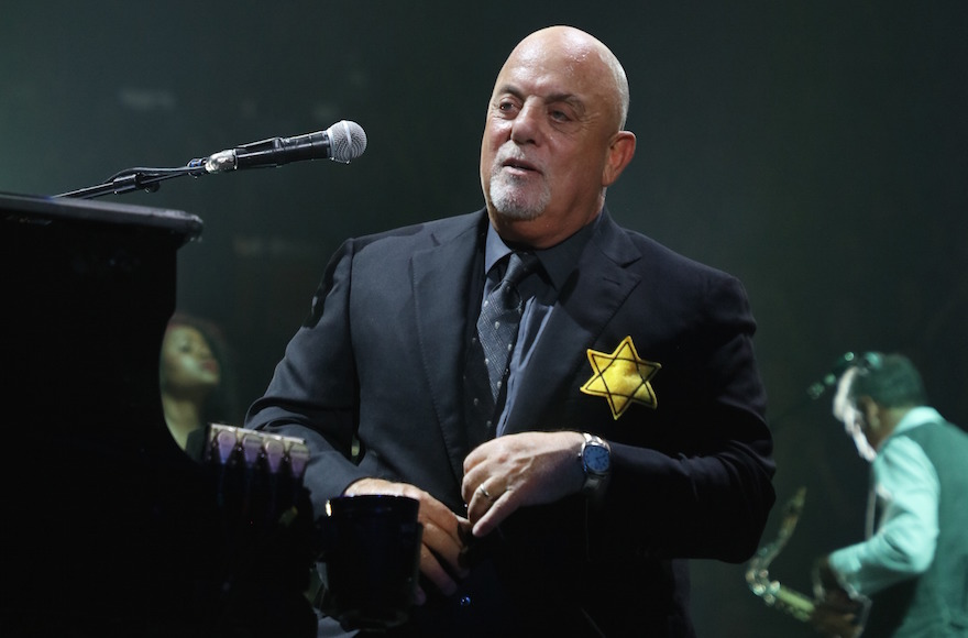 Billy Joel wears Star of David patch on stage at NYC concert