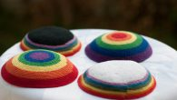 LGBTQ rainbow kippas. Courtesy of Jaime Azrad.