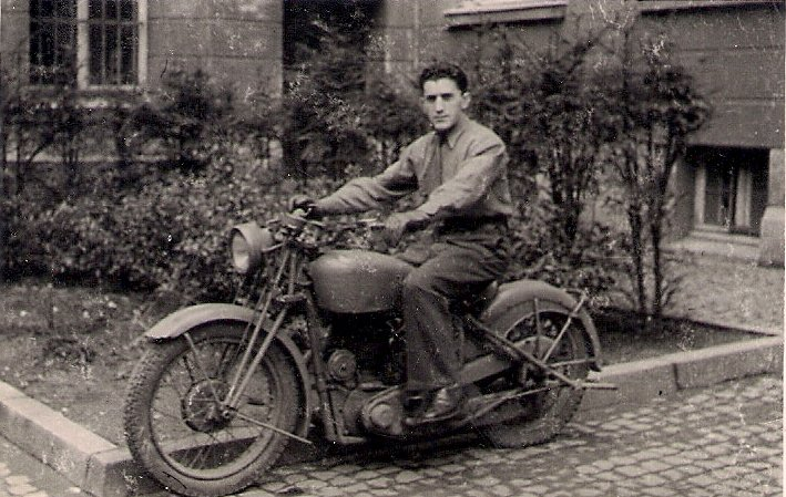 Walter Kraus in Germany shortly after the war. He worked for the British military government in Aachen, assisting in the denazification process of public workers, police officers, etc.