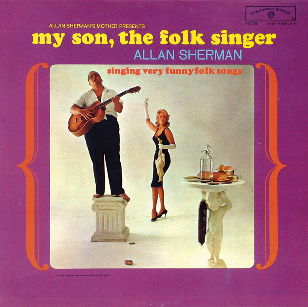 "The cover of Allan Sherman's classic album, ""My Son, the Folk Singer."""