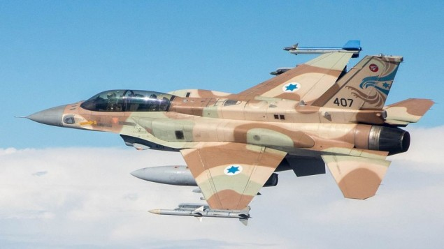 An Israeli war plane in action