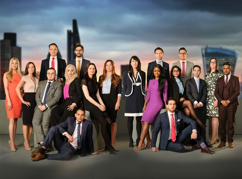 WARNING: Embargoed for publication until 00:00:01 on 26/09/2017 - Programme Name: The Apprentice Series 13 - 2017 - TX: n/a - Episode: n/a (No. n/a) - Picture Shows: Back row (L-R): James White, Ross Fretten, Jeff Wan, Andrew Brady Middle row (L-R): Jade English, Sarah Lynn, Charles Burns, Bushra Shaikh, Sarah-Jayne Clark, Michaela Wain, Siobhan Smith, Joanna Jarjue, Anisa Topan, Elliot Van Emden, Elizabeth McKenna, Sajan Shah Front row (L-R):Danny Grant, Harrison Jones - (C) Freemantle Media - Photographer: Jim Marks