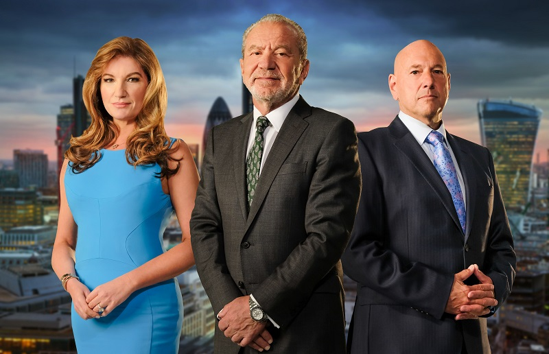 WARNING: Embargoed for publication until 00:00:01 on 26/09/2017 - Programme Name: The Apprentice Series 13 - 2017 - TX: n/a - Episode: n/a (No. n/a) - Picture Shows: Karren Brady, Lord Sugar, Claude Littner - (C) Freemantle Media - Photographer: Jim Marks