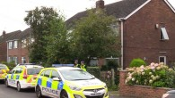 Police at the scene in Greymist Avenue,, Cheshire, following a police counter-terrorism raid - where numerous alleged members of National Action were detained   Photo credit: Andy Hampson/PA Wire