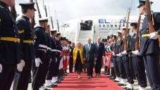 Israeli prime minister Benjamin Netanyahu and his wife Sara arrive in the Argentinian capital, during his official state visit to Buenos Aires   Photo by Avi Ohayon/GPO via JINIPIX