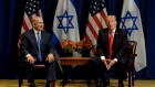 Prime Minister Benjamin Netanyahu meets with US President Donald Trump, in New York   Photo by Avi Ohayon/GPO via JINIPIX