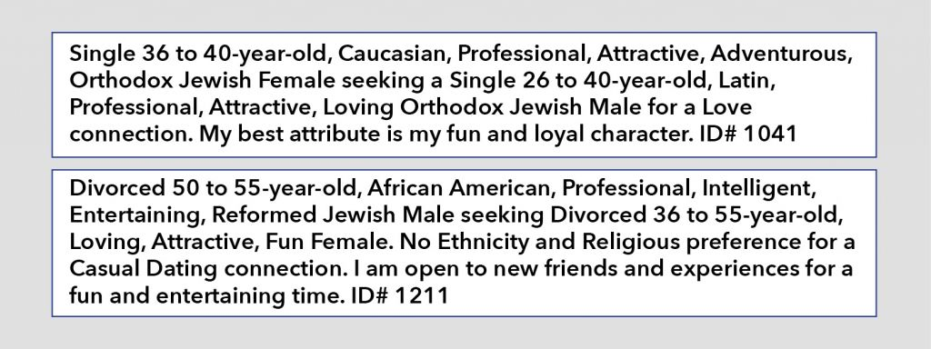 Funny personal ads for dating