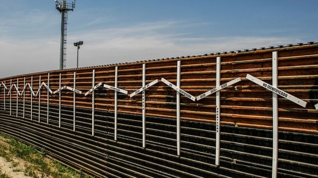 The Wall at the border of Tijuana, Mexico and San Diego, US