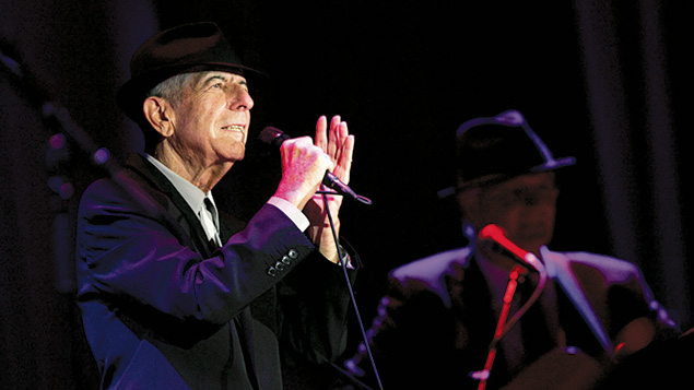 Leonard Cohen performs at a concert in Ramat Gan, Israel, in 2009. (Marko/Flash90)