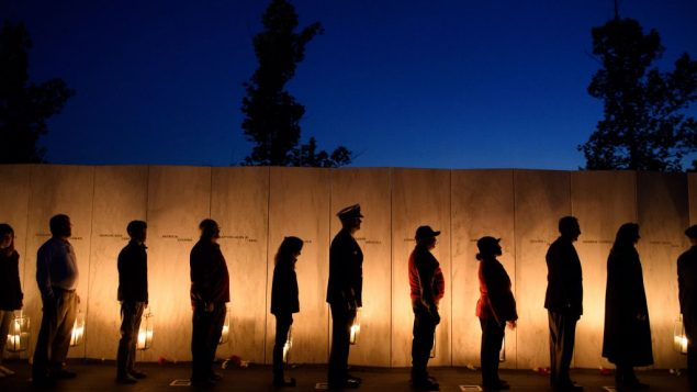 Visitors gather to pay respects during the Flight 93 National MemorialÕs annual Luminaria on the eve of 16th Anniversary ceremony of the September 11th terrorist attacks, September 10, 2017 in Shanksville, PA. Getty Images
