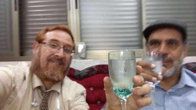 Likud Party MK Yehuda Glick with Muhammad Sabir Jabir in his Hebron  home