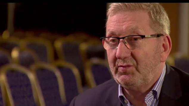 Len McCluskey speaking to the BBC