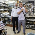 Let's Talk Business participants engaging with Jewish traditions in a shop