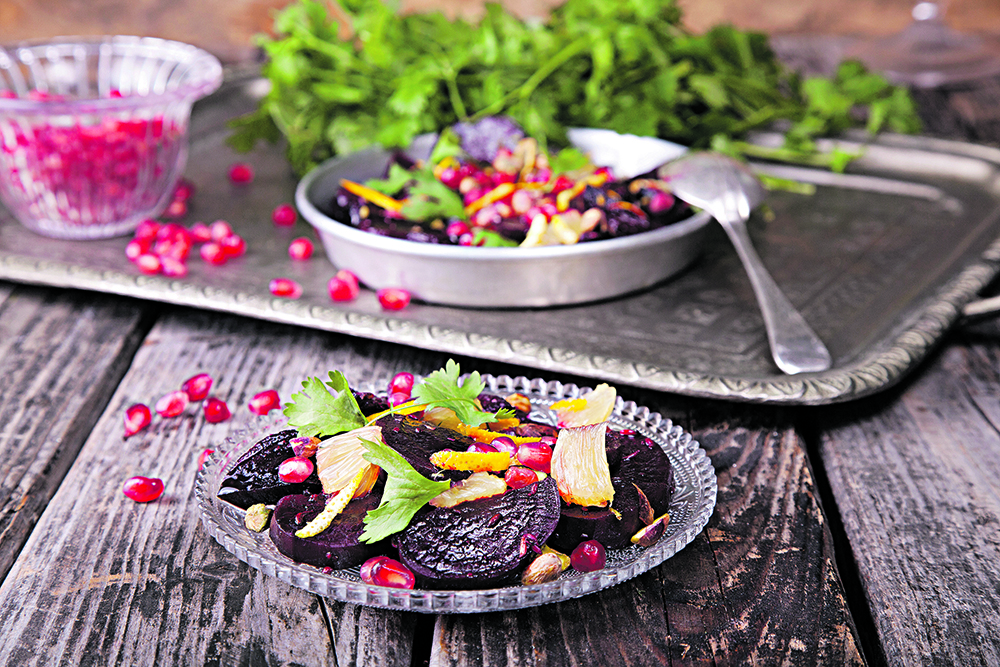 Moroccan roasted beetroot salad
