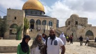 The British-Pakistani delegation at Temple Mount visiting the Golden Done and Al Aqsa mosque