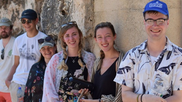 The Real Deal group at Capernaum, a site on the Galilee mentioned in the New Testament
