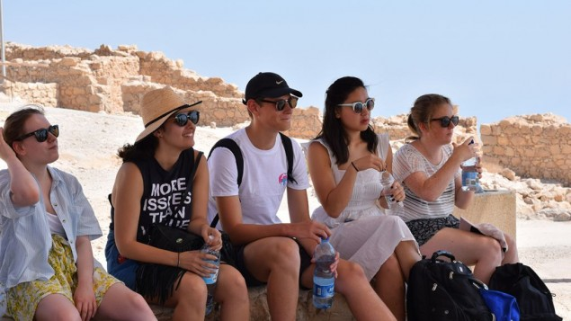The Real Deal participants on Masada