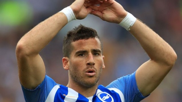 Brighton & Hove Albion's Tomer Hemed.  Photo credit: John Walton/PA Wire.