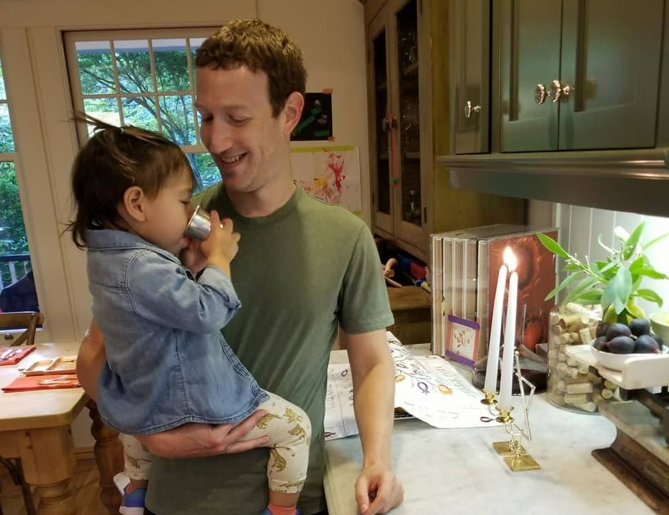 Mark Zuckerberg gives family kiddish cup to daughter