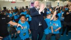 Chief Rabbi Ephraim Mirvis and pupils celebrate ahead of ShabbatUK