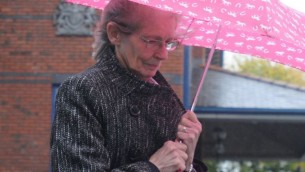 Barbara Fielding-Morriss, an independent candidate in JuneÕs General Election, leaves Stoke-on-Trent Crown Court where she denies stirring up racial hatred by praising Adolf Hitler and calling for Jews in present day Germany to be gassed. PRESS ASSOCIATION Photo. Picture date: Friday October 20, 2017. See PA story COURTS Election. Photo credit should read: Matthew Cooper/PA Wire