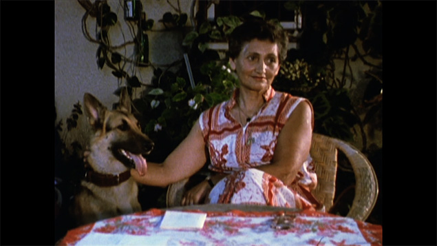 "One of the women in Claude Lanzmann's ""Four Sisters."""
