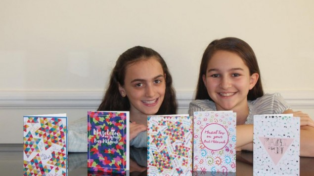 Abi Boyden, left and Rachel Weller, right, with a selection of their cards