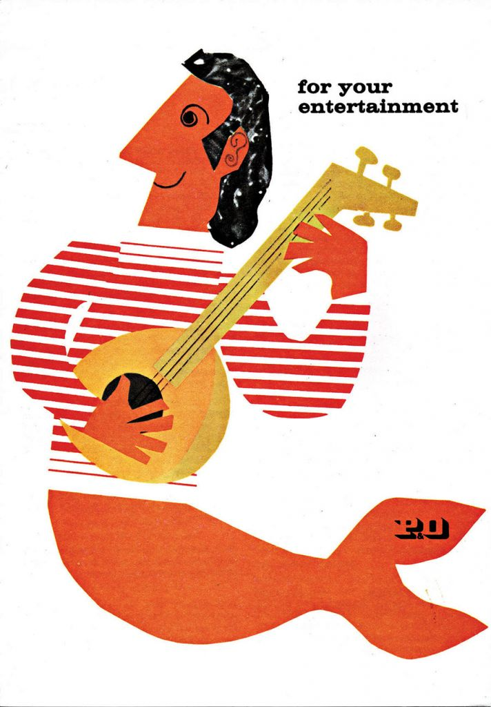 An entertainment card designed by Dorrit Dekk