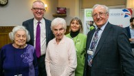 Ian Austin MP with survivors - picture by Yakir Zur