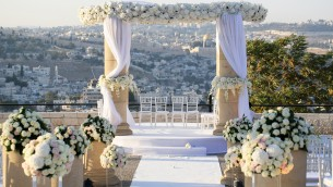 A chuppah overlooking the Kotel is just one of the magical things available in Israel