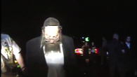 Rabbi Berl Fink being pulled over for speeding in Vermont. (Screenshot from Vermont State Police video)