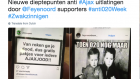 Football fans in the Netherlands used a picture of child victims of the Holocaust to taunt a rival team