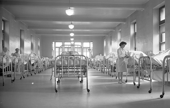 What hospital care used to look like.