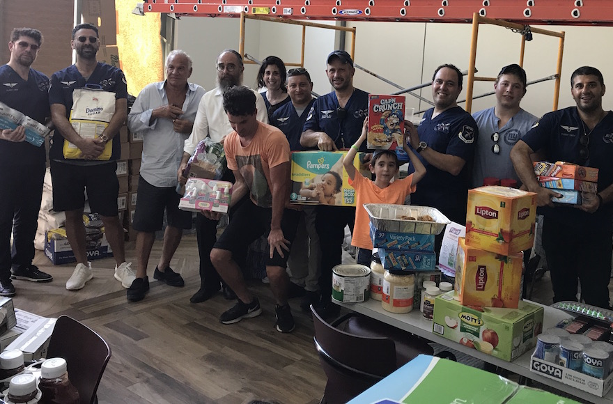 Eli Rowe's team of 12 delivered supplies to the San Juan Chabad as well as to vulnerable areas throughout Puerto Rico's capital Sept. 25 2017. JTA