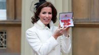 Broadcaster Natasha Kaplinsky after she was awarded an OBE by the Prince of Wales during an Investiture ceremony at Buckingham Palace,   Photo credit: Jonathan Brady/PA Wire