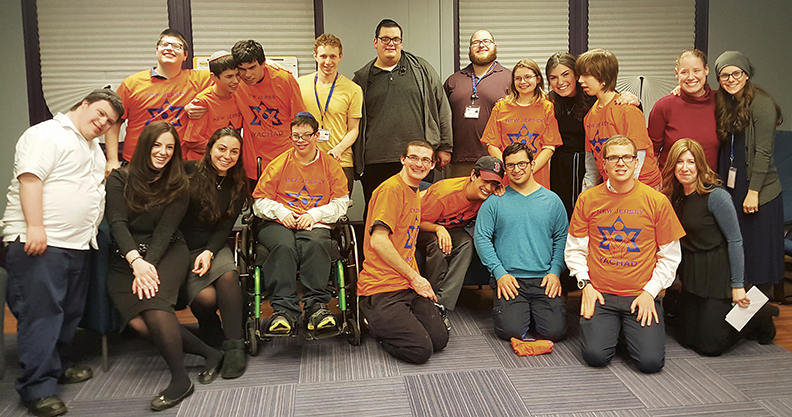 New Jersey Yachad members and staff at the Mendel Balk Yachad Adult Community Center.