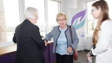 Anne Frank's stepsister Eva Schloss at a recent CCJ event