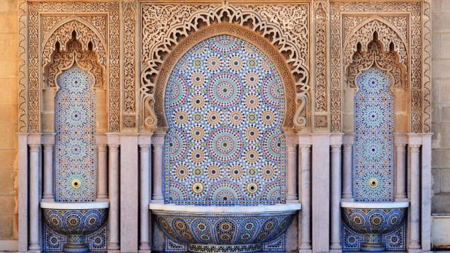 Decorated fountain with mosaic tiles in Rabat / Adobe Stock Photo