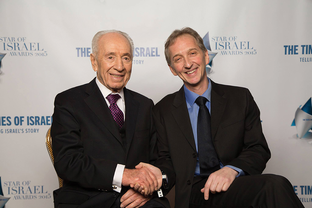 David Horovitz with Shimon Peres