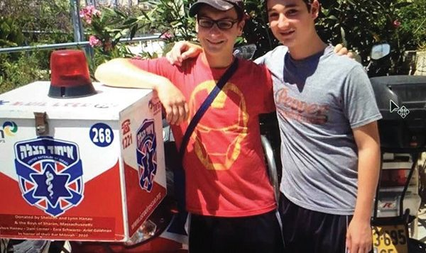 Ezra Schwartz, right, and Josh Hanau