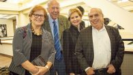Deborah Lipstadt, left, with former US politician George Shultz and Natan Sharansky