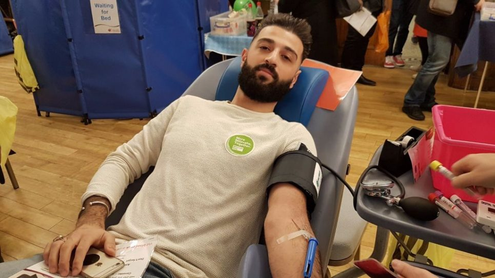 Muslims from the new Golders Green Islamic Centre joined with Jews to give blood at Golders Green Synagogue - showing unity after recent controversies  Credit: Steven Derby/Interfaith Matters