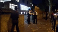 Police arrested two after they entered a synagogue with a very large knife