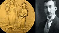 Morton & Eden of a gold Nobel Prize medal (left) awarded to a founding radiochemist George de Hevesy (right) which is expected to sell for hundreds of thousands of pounds at auction.   Photo credit: Handout/PA Wire