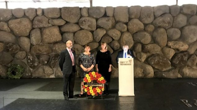 Emily Thornberry pays respects to the victims of the Holocaust at Yad Vashem, with Joan Ryan of LFI and Fabian Hamilton