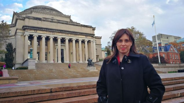 Tzipi Hotovely à l'université de Columbia à New York le 2 novembre 2017 (Crédit : Autorisation)