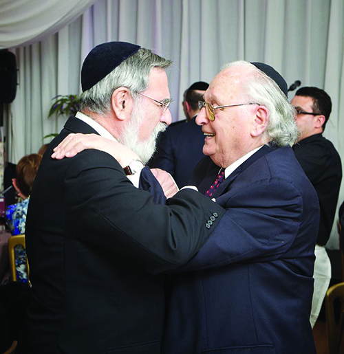 Yehuda Avner (right) with former Chief Rabbi Lord Sacks